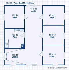3 stall horse barn plan barn ideas pinterest sliding for Horse stall floor plans