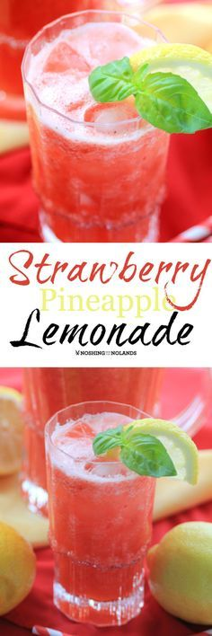 Mouth Watering Monday again and we are in full swing of spring, so with that I start to think of refreshing drinks like this Strawberry Pineapple Lemonade.