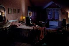 View Winter mother on bed with blood by Gregory Crewdson on artnet. Browse upcoming and past auction lots by Gregory Crewdson. Narrative Photography, Cinematic Photography, Color Photography, Night Photography, Gregory Crewdson Photography, Mullholland Drive, Brief Encounter, Gagosian Gallery, Southern Gothic