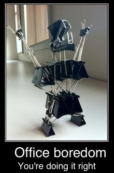 This is something I would really do. Now that I've seen the robot of it all I have something to do tomorrow at work! RK