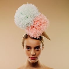 sculptural couture hat | ... sculptural reflection of the molecule of happiness and relaxation