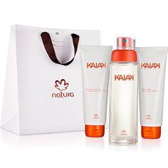 Presente Natura Kaiak - Desodorante Colônia Feminino 100ml + Desodorante Hidratante Corporal Perfumado 125ml + Sabonete Líquido para o Corpo 125ml + Embalagem - 66242