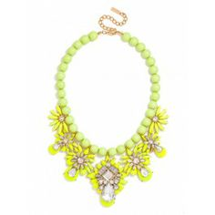 Chartreuse Bib Necklace