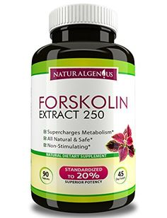 True 45Day Supply  Fast  Natural Fat Burner  100 Pure Forskolin 250mg 90 Caps of Top Grade Coleus Forskohlii Root Extract  3rd Party Tested 500mgday Weight Loss Supplement by Natural Genius *** Click image to review more details.Note:It is affiliate link to Amazon.