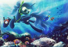 Snorkeling Princess by Ruhisu.deviantart.com on @DeviantArt