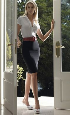 Secretary pencil skirts office
