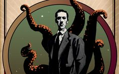 Fans have been marking the death of horror writer HP Lovecraft 75 years ago. He has gone on to influence a generation of writers. Hp Lovecraft, Lovecraft Cthulhu, Lovecraftian Horror, Evil Villains, Found Art, Dark Memes, Gothic Horror, Weird Facts, Strange Facts