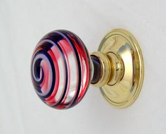 50% OFF. Pair round ruby red glass doorknobs , Round coloured glass ...