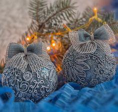 Купить Новогодние шары. Елочное украшение «Зимние узоры» - новогодние шары, елочные шары