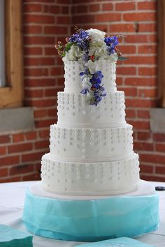 White Wedding Cake by The Couture Cakery, via Flickr