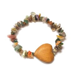 Heart of nature bracelet Gemstone chips por FlorAccessoires