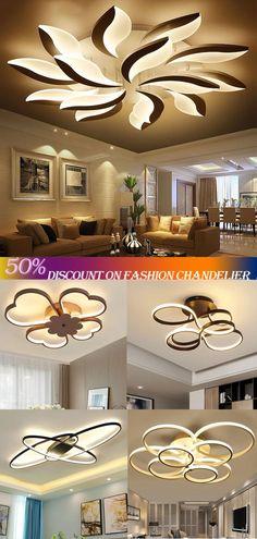 Home Decor Lights, Home Lighting, Diy Home Decor, Home Room Design, Dream Home Design, House Design, Bed With Led Lights, Modern Farmhouse Lighting, Salon Interior Design