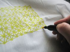 Fabric markers to make tea towels