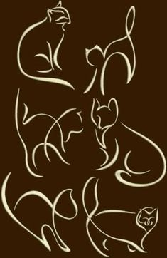 Advanced Embroidery Designs - Cat Silhouette Set #CatSilhouette