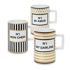 Konitz Tres Chic Mugs (Set of 3)