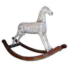19th c. rocking horse | From a unique collection of antique and modern toys at https://www.1stdibs.com/furniture/more-furniture-collectibles/toys/