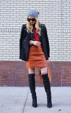 How to Wear Over-the-Knee Boots in Winter | StyleCaster