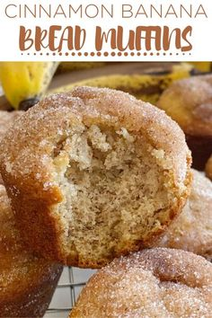 Banana Muffins | Banana Bread Recipe | Banana Muffins are soft, bake up perfectly round, and topped with cinnamon & sugar. One bowl is all you need to make the best banana bread muffins. No mixer needed! #muffins #bananamuffins #muffinrecipes #bananabread Super Moist Banana Bread, Sour Cream Banana Bread, Cinnamon Banana Bread, Homemade Banana Bread, Banana Bread Muffins, Easy Banana Bread, Chocolate Banana Bread, Chocolate Chip Recipes, Banana Bread Recipes