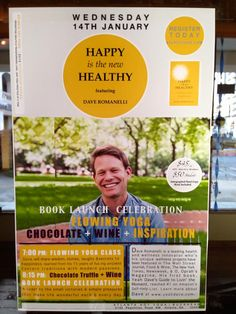 Come see my friend David Romanelli at my new digs, Atlanta Hot Yoga, for his book launch. It's sure to be an amazing night of yoga, wine, chocolate and awesomeness! When: Jan.14, 2015. It's sure to fill up, so sign up now!
