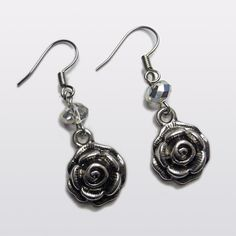 Fifty Shades of Grey inspired 'Grey Rose' earrings. $9.87, via Etsy.