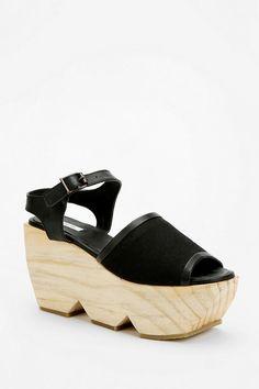 Kimchi Blue Wooden Cutout Platform Sandal #urbanoutfitters