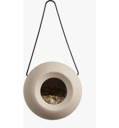 Singing Friend Bird Feeder Lisa - Ceramic - Grey - Interismo UK