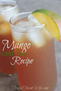 This mango iced tea recipe is so perfectly refreshing on a hot day!