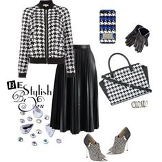 A fashion look from October 2014 featuring Michael Kors jackets, Chicwish skirts and MICHAEL Michael Kors ankle booties. Browse and shop related looks.