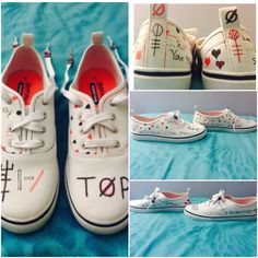DIY Twenty Øne Pilots shoes!!!