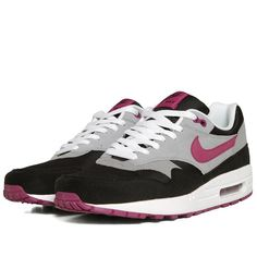 Nike WMNS Air Max 1 (Black, Rave Pink & Wolf Grey)