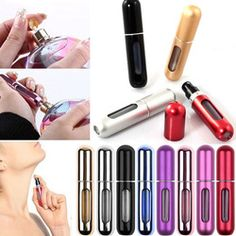 Online Shop Fashion Mini Portable Travel Refillable Perfume Atomizer Bottle For Spray Scent Pump Case Empty Perfume Atomizer, Mist Spray, Spray Bottle, Fragrance, Pumps, Empty, Mini, Stuff To Buy, Shopping