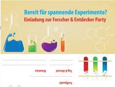 Einladung für eine Experimenten Party #kids #science # ...