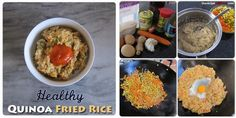 Healthy Quinoa Fried Rice | The Recipe Auditors | #quinoa | Follow @The Recipe Auditors Quinoa Fried Rice, Fries, Healthy, Breakfast, Recipes, Food, Morning Coffee, Rezepte, Food Recipes