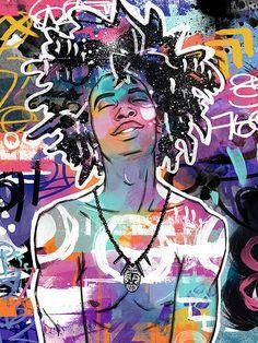 Okay so this is a man but it is still supercool - Modern Black Love Art, Black Girl Art, Art Girl, African American Art, African Art, Black Art Pictures, Black Artwork, Afro Art, Magic Art