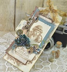 Stempelglede :: Tag made with Steampunk Journey stamps. Made by Cathrine Sandvik.