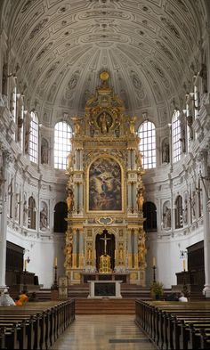 The High Altar at St. Michael Church - Munich, Germany #religiousarchitecture