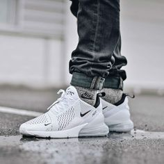 premium selection 8d2ee 54f26 The Nike Air Max 270 White Black is inspired by the Air Max 180 and Air Max