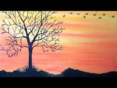 ▶ How to draw sunset with pastel - Return To Home - With Commentary - YouTube