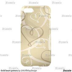 Gold heart pattern
