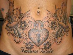 50 Tatuajes para Tapar estrías en la barriga