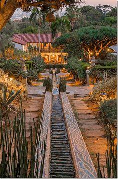 Water Rill At Robert Pattinsonu0027s Home In Los Feliz, CA.