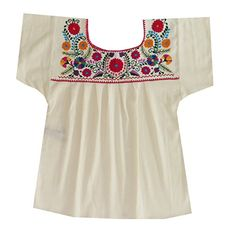 Mexican Clothing Co Womens Mexican Blouse Tehuacan Light Manta Medium Beige 2693. Authentic Mexican. Typical product. Made in Mexico. Unique items with matching photos (you will get what you see). Hand embroidered with cotton or satin thread. Light manta (100% cotton). Traditional Style. Loose fit. Machine wash cold, gentle cycle. Hang to dry only.