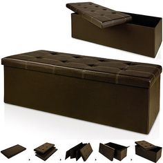 #Stool seat 114x40x40cm #storage box ottoman bench stool seat cubes #brown, View more on the LINK: http://www.zeppy.io/product/gb/2/141923086131/