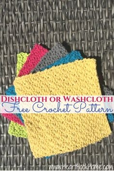 Dishcloth or Washcloth FREE Crochet Pattern http://hearthookhome.com/crochet-dishclothwashcloth-free-pattern/?utm_campaign=coschedule&utm_source=pinterest&utm_medium=Ashlea%20K%20-%20Heart%2C%20Hook%2C%20Home&utm_content=Dishcloth%20or%20Washcloth%20FREE%20Crochet%20Pattern