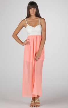 Bow Tie Back Maxi Dress