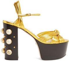 158270777e26 GUCCI Allie embellished-heel platform sandals