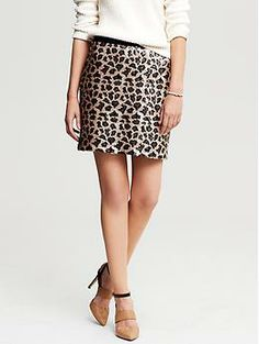Leopard Sequin Mini- I seriously NEED this skirt!