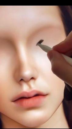 Digital Painting Tutorials, Digital Art Tutorial, Art Tutorials, Digital Paintings, Digital Art Girl, Digital Portrait, Portrait Art, Art Drawings Sketches Simple, Realistic Drawings