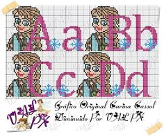 Loom Patterns, Cross Stitch Patterns, Cross Stitch Alphabet, Le Point, Letters And Numbers, Hama Beads, The Originals, Comics, Disney