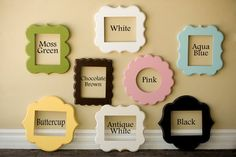 whimsical picture frame. Love these